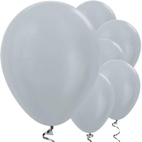Bilde av Ballonger Sølv Satin Lateks 30cm x 50stk