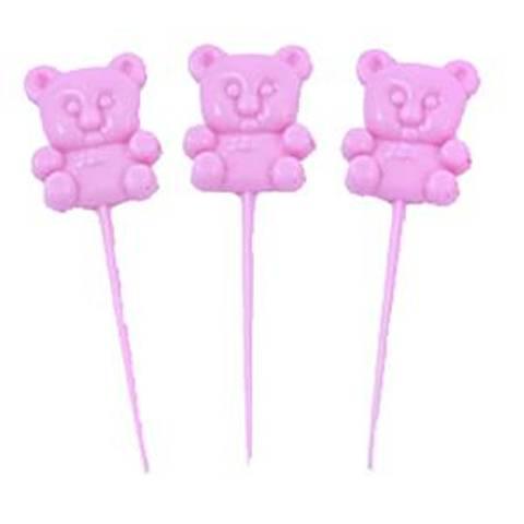 Bilde av Cupcakes Picks Rosa Bamse 18stk