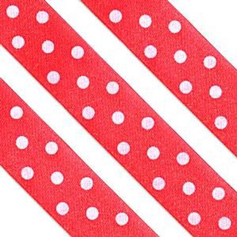Bilde av Kakebånd Rød Polka Dot 1m