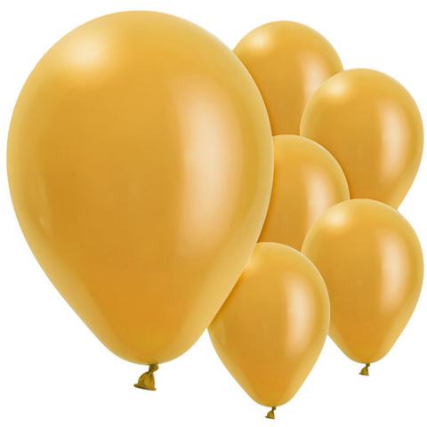 Bilde av Ballonger Gull Perle Lateks 28cm 10stk