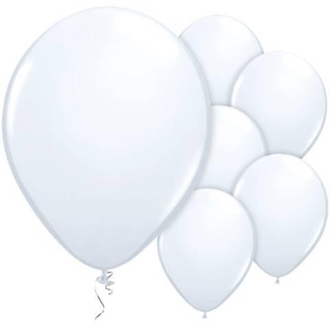 Bilde av Ballonger Hvite Lateks 28cm 25stk