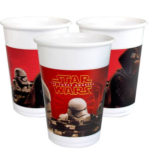 Bilde av Star Wars The Force Awakens Plastkopper 200ml 8stk
