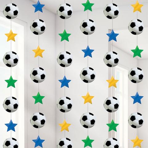 Bilde av Fotball Hengende Strings Dekorasjon - 2.1m