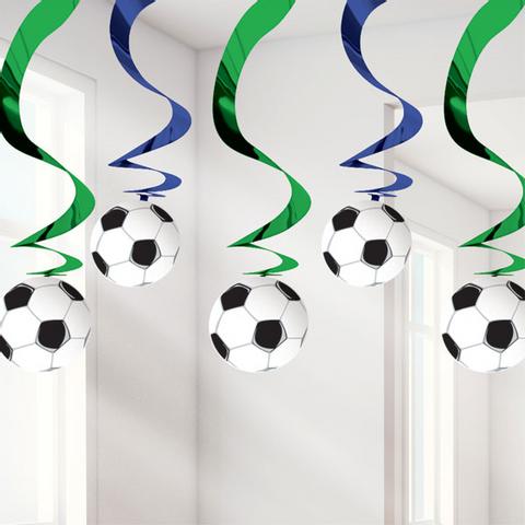 Bilde av Fotball Hengende Virvel Dekorasjon - 60cm