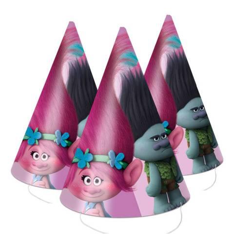 Bilde av Trolls Party Hatter 6stk