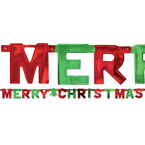 Bilde av Banner Merry Christmas  1.5m