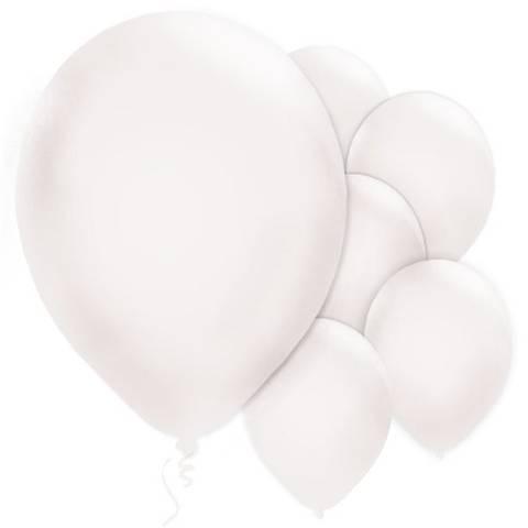Bilde av Ballonger Hvite Lateks 28cm 10stk