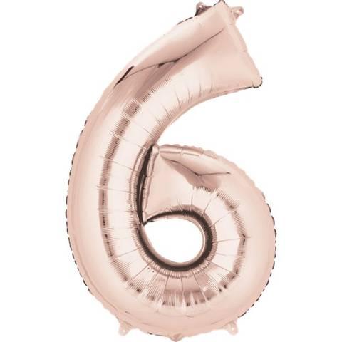 Bilde av Tallballong Folie Rosegull 86cm Nr.6
