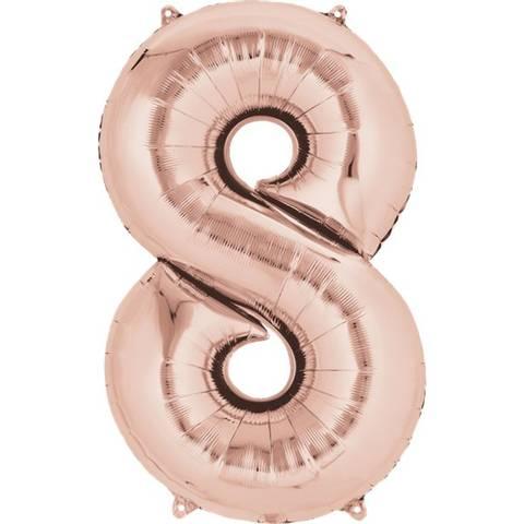 Bilde av Tallballong Folie Rosegull 86cm Nr.8