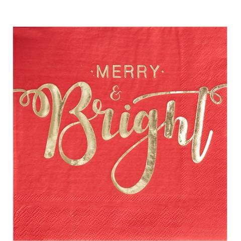 Bilde av Merry & Bright Røde Papirservietter 33cm 20stk