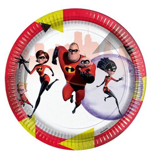 Bilde av The Incredibles 2 Papptallerkner 23cm 8 stk
