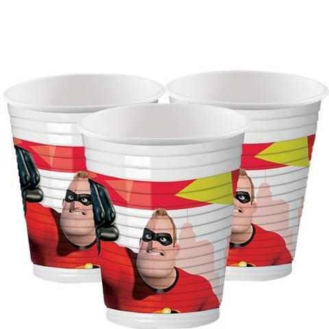 Bilde av The Incredibles 2 Plastkopper 200ml 8stk