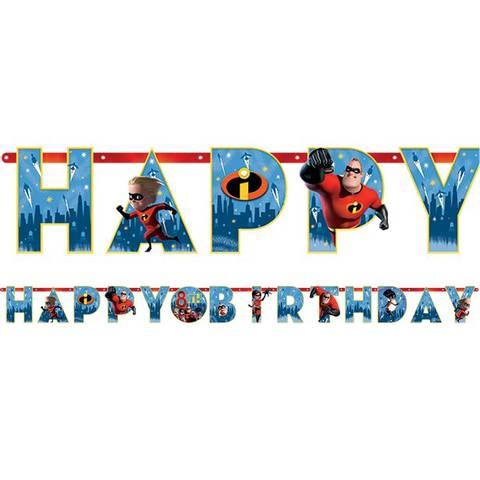 Bilde av The Incredibles 2 Bokstav Banner 3.2m