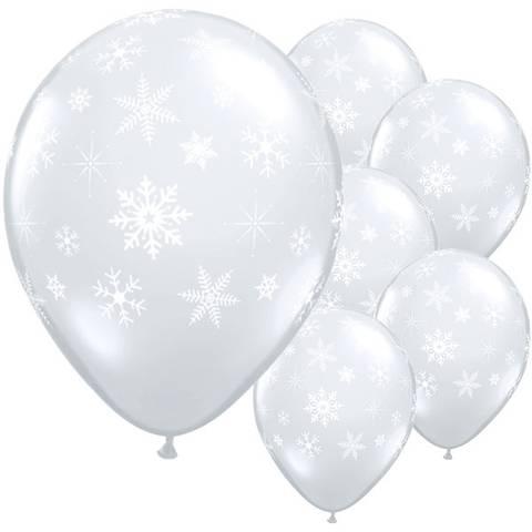 Bilde av Ballonger Snøfnugg Latex  27cm 50stk