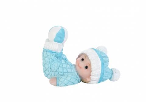 Bilde av Figur Baby Liggende Blå 7.1cm