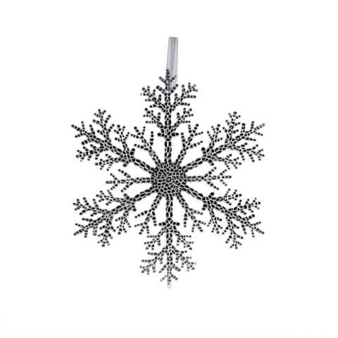 Bilde av Julepynt Snøkrystall Juleheng Sølv 20cm
