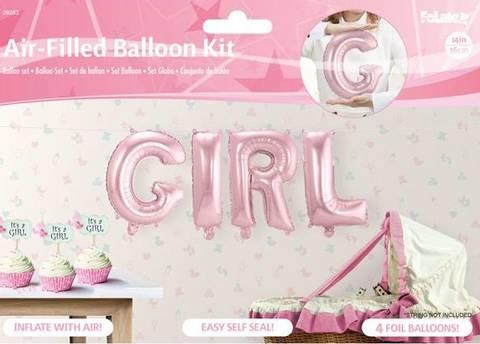 Bilde av Ballong Rosa Girl 36cm