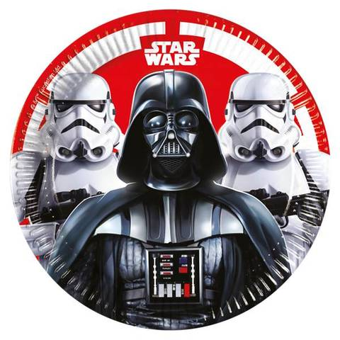 Bilde av Star Wars Papptallerkner 23cm 8stk