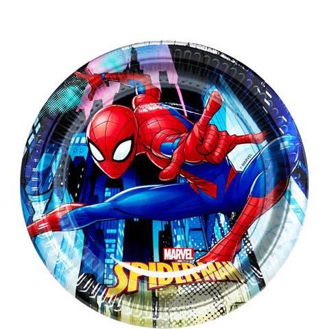 Bilde av Spiderman Team Up Desserttallerkner 20cm 8stk