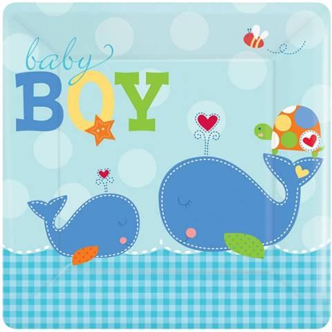 Bilde av Papptellerkner Ahoy Baby Blue 25 x 25 cm cm 8pk