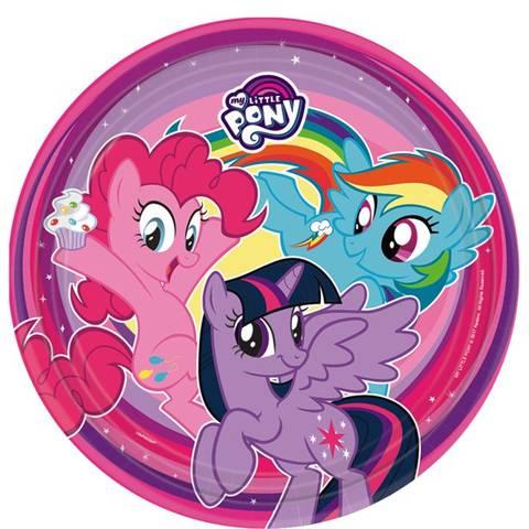 Bilde av My Little Pony Papptallerkner 23cm 8stk