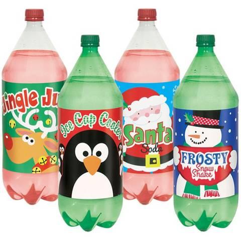 Bilde av Juleflaske Etiketter 4stk