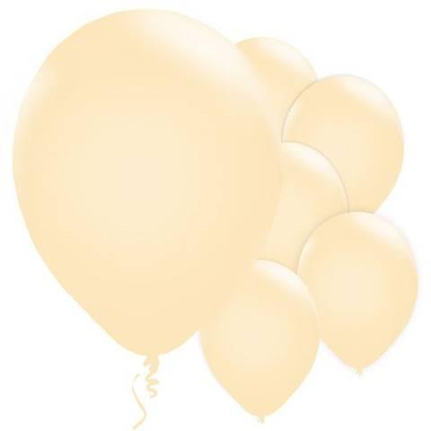 Bilde av Ballonger Elfenbenfarget Perle Lateks 28cm 10stk
