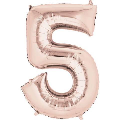 Bilde av Tallballong Folie Rosegull 40cm Nr.5