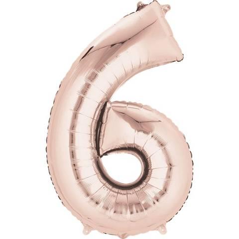 Bilde av Tallballong Folie Rosegull 40cm Nr.6