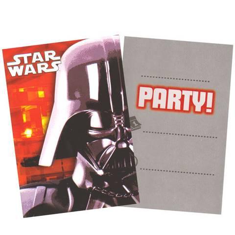 Bilde av Star Wars Invitasjonskort  6stk