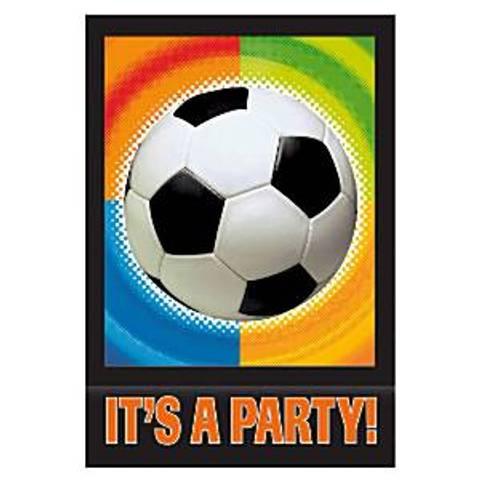Bilde av Championship Fotballfest Invitasjonskort 8stk