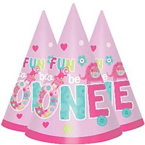 Bilde av Fun to be One Jente 1 År Rosa Hatter 8stk