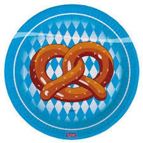 Bilde av Oktoberfest Papptallerkner 18cm 8stk