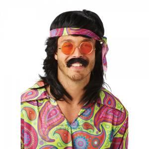 Bilde av Sort 70's Hippie bart