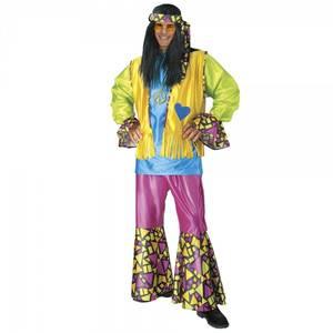 Bilde av Flerfarget Hippie kostyme