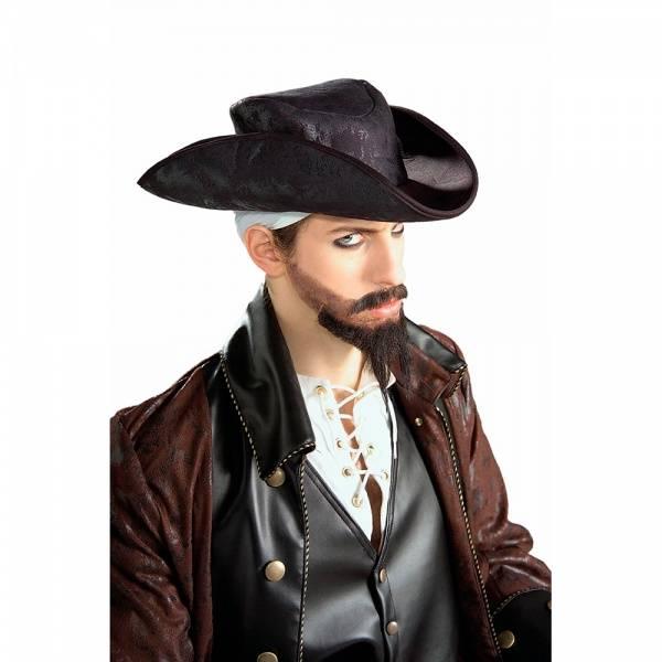 Sort pirat hatt