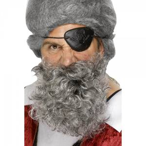 Bilde av Pirat skjegg og bart grå