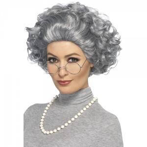 Bilde av Old Lady parykk m. briller