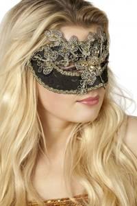 Bilde av Black & Gold Venetian maske