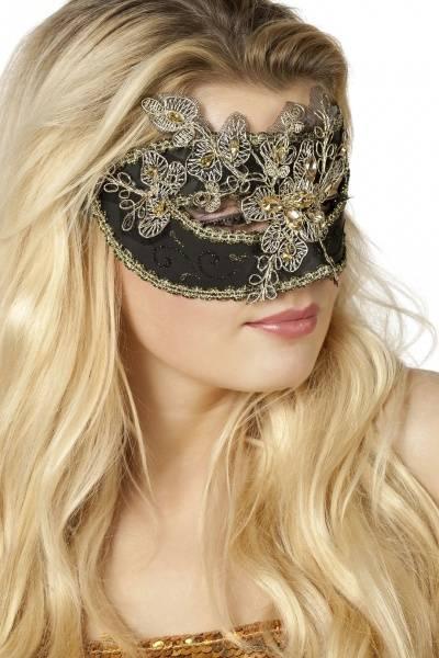 Black & Gold Venetian maske