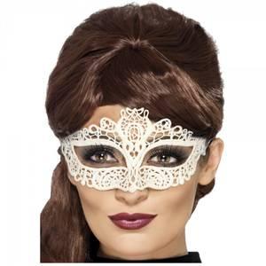 Bilde av Hvit Filigree maske