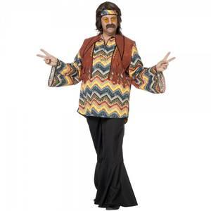 Bilde av 60's Hippie skjorte - kostyme
