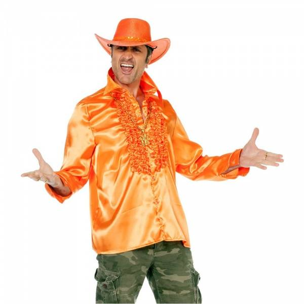 Discoskjorte orange - kostyme