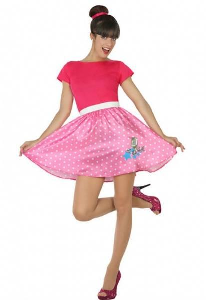 50's Pink Rock 'N' Roll kostyme