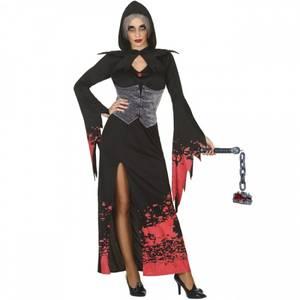 Bilde av Svart/rød Vampyr kostyme