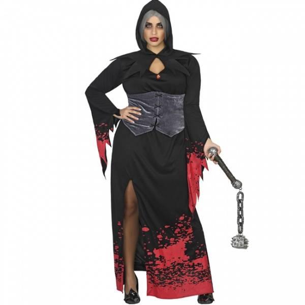 Svart/rød Vampyr kostyme
