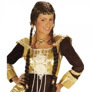Bilde av Medieval Princess parykk brun