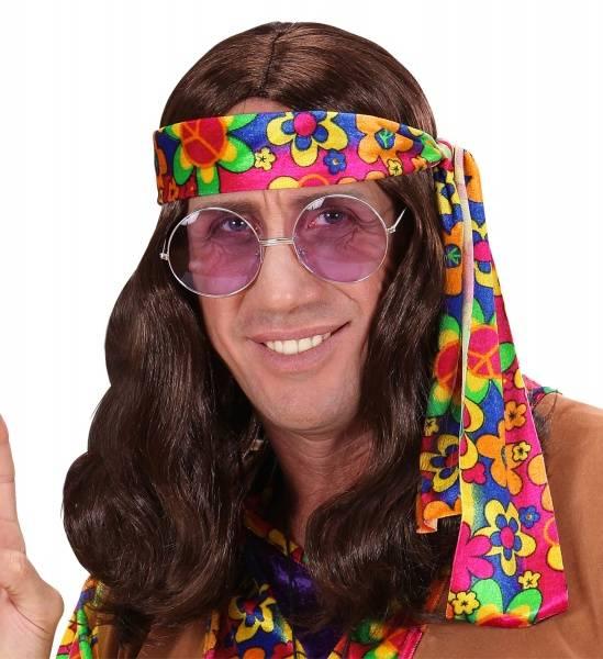 Brun Hippie parykk