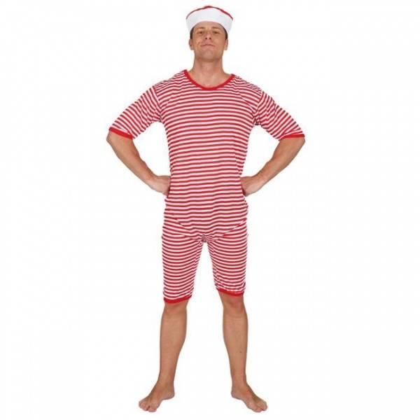 Stripete badedrakt rød - kostyme