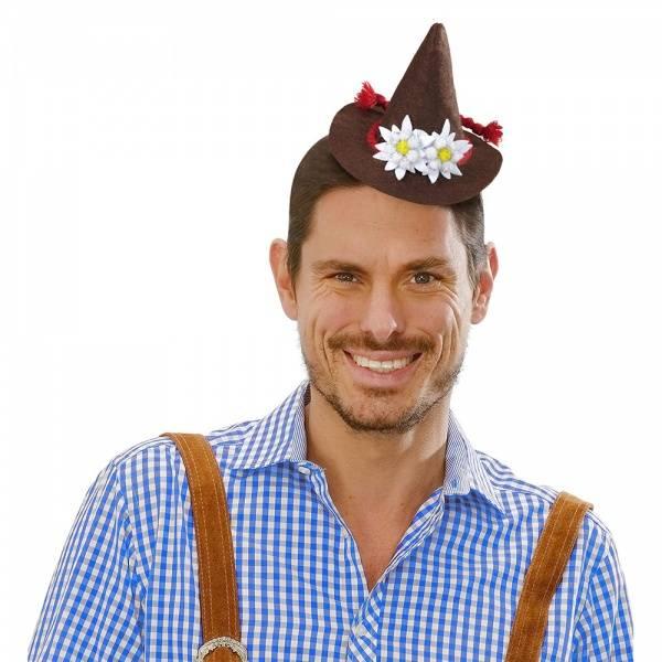 Mini Bavarian hatt brun